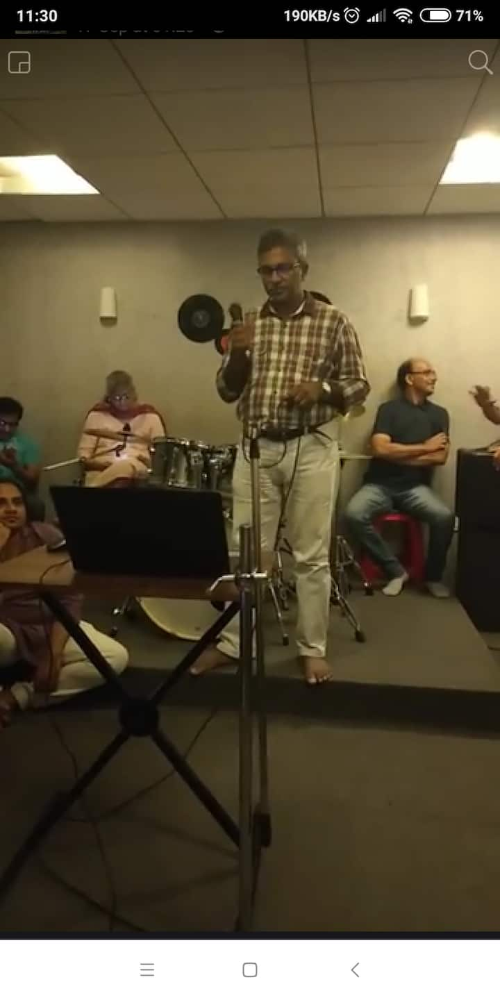 Audience at an old age home