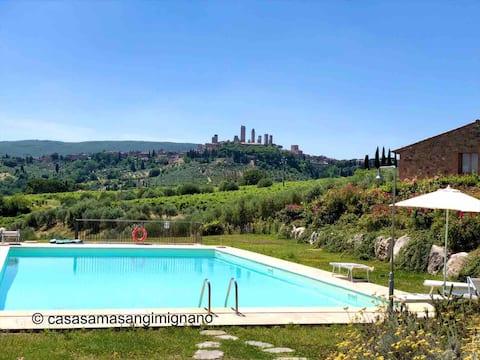 Wakacje w Toskanii, z basenem i pięknymi widokami