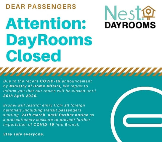 Brunei Airport - Nest Dayrooms - Transit Rooms