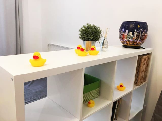 Apartment with yellow duck