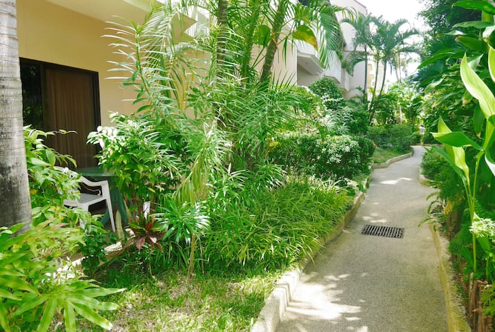 Private garden in front of every room