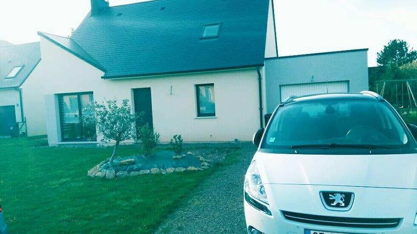 Chambre + SDO  10min Caen, près A84 - Fontaine-Étoupefour - Huis