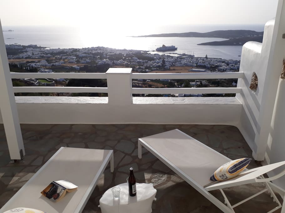 sunbeds, enjot the view and relax time