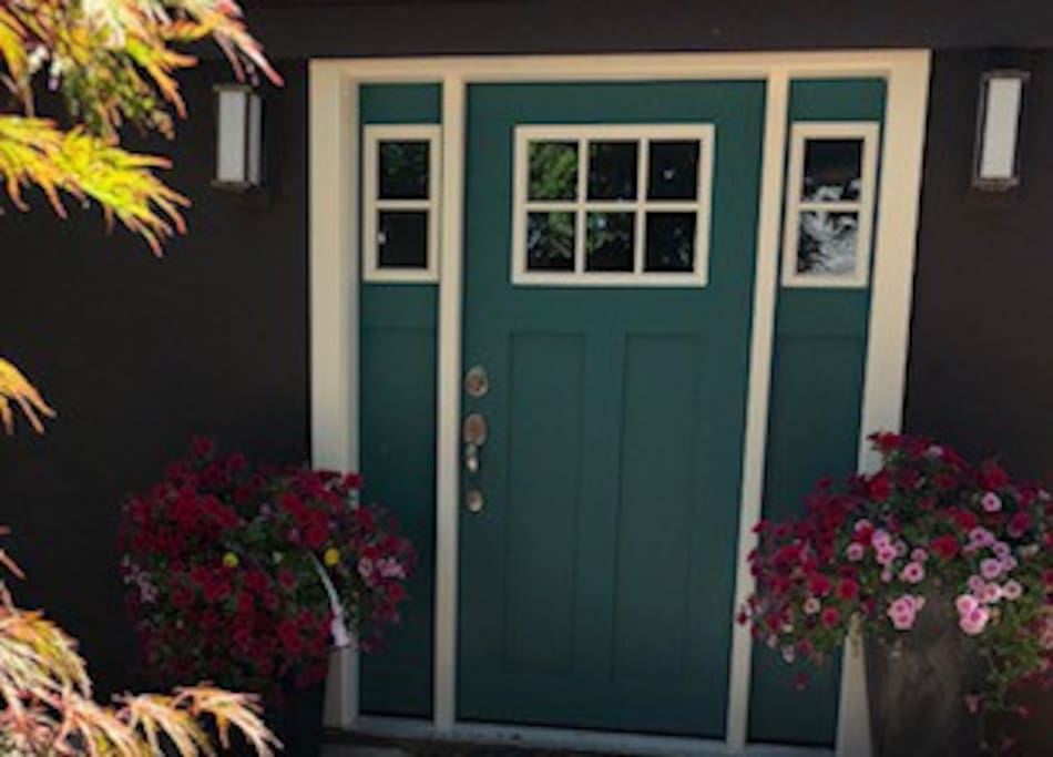 Separate, exterior front door is accessed through the backyard