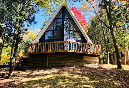 Up North Blue Lake Escape - A Unique A-Frame