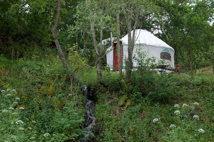Riverview Yurts in Central Portugal.