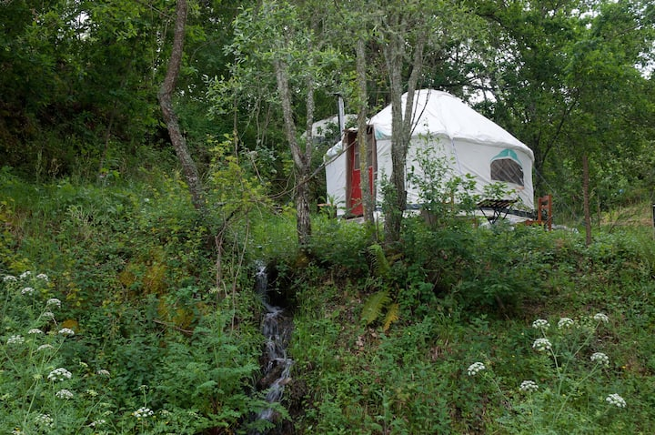 Riverview Yurt in Central Portugal.