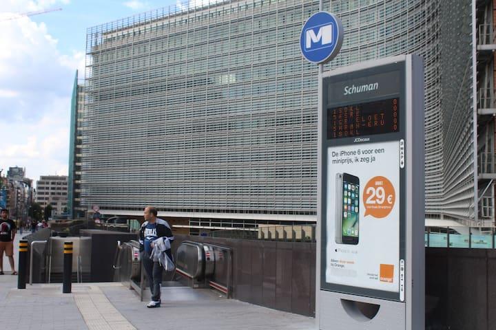 Commission European Building 5 minute to walk ( TGV , Train , Metro , airport bus  21 , 12  )