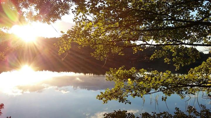 Morgensonne am Kleinen Baalsee