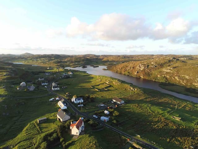 The village of Tolsta Chaolais and Loch a Bhaille