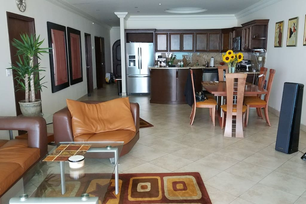 View of the living room & kitchen