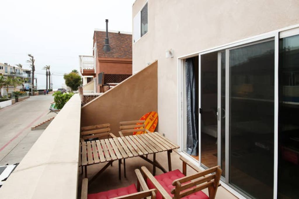 Another view of the balcony--perfect place to grab a snack and chill.