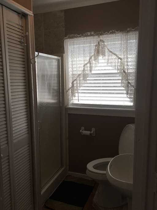 Here's the bathroom!