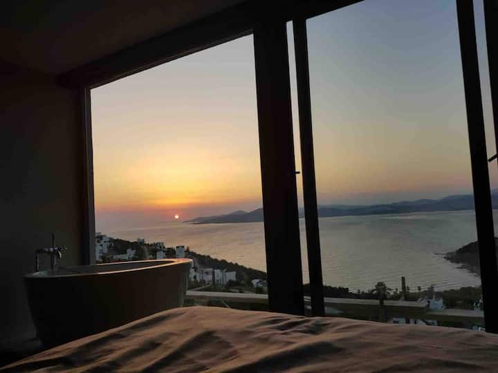 Brand new 3BR beach house with amazing sunset view