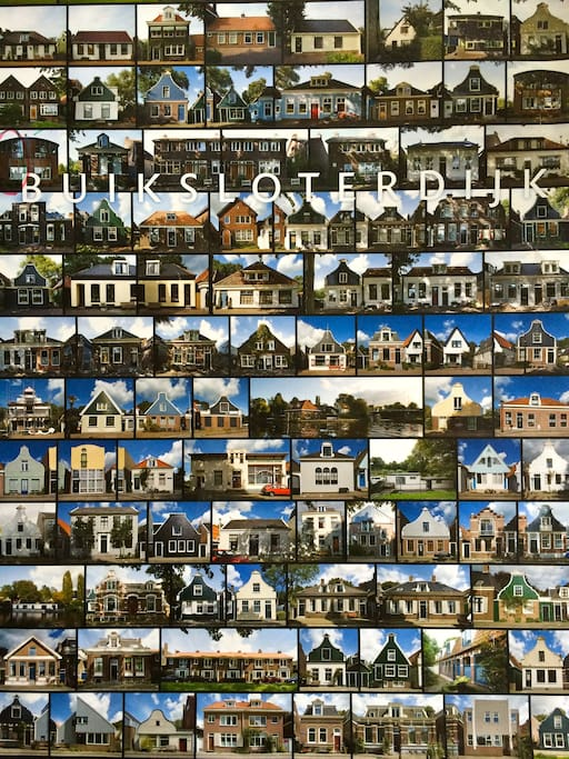 All the beautiful houses of the dyke on one poster