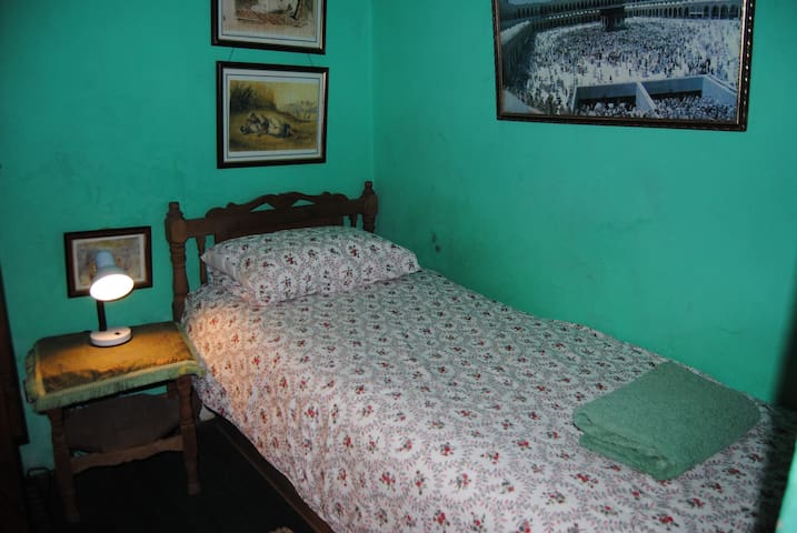 The room with one single bed