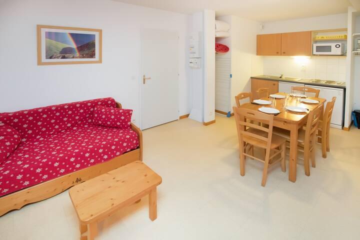 Balcons G 026 - PROCHE PISTES appartement 6 per