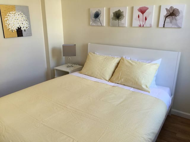 The Acadia Bedroom with a Queen Size Bed!