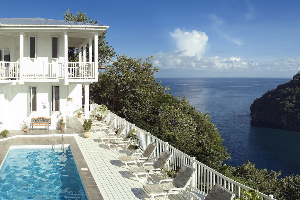 The Villa On The Bay, our pool our terrace and The View!
