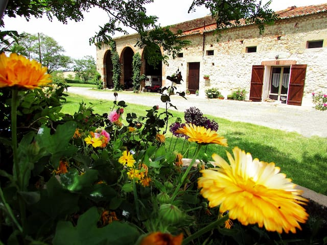 Furnished apartment in typical lauragais farmhouse