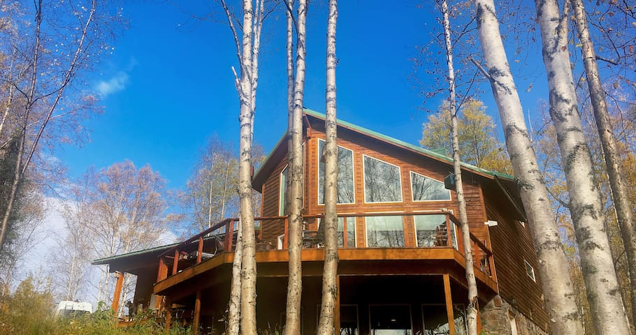 The Rusty Salmon Lake House with Deck and Dock