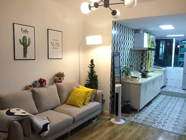 市中心(大营坡)90平清新北欧风格温馨三室