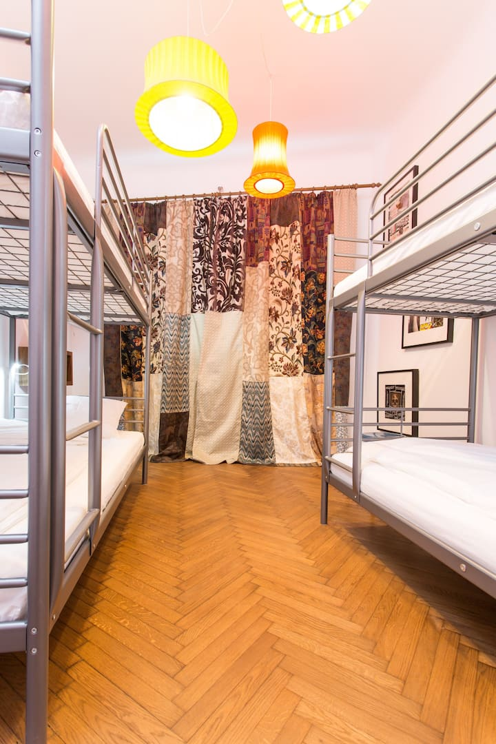 4 Dormitory Bedroom in First Hostel Bucharest