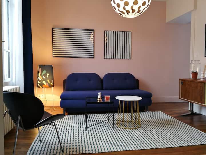 Studio design à 5min du centre ville de Troyes