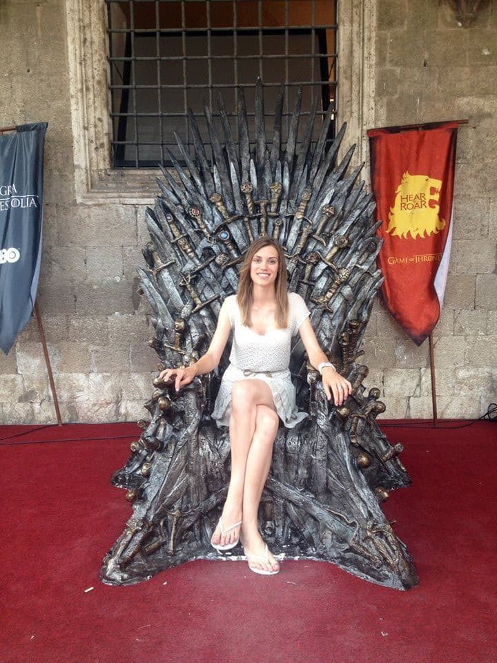 Original Iron Throne in Dubrovnik