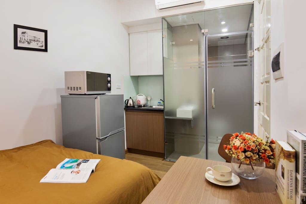 Noble apartment studio 5 appartements avec services - Appartement renove hanoi hung manh tran ...