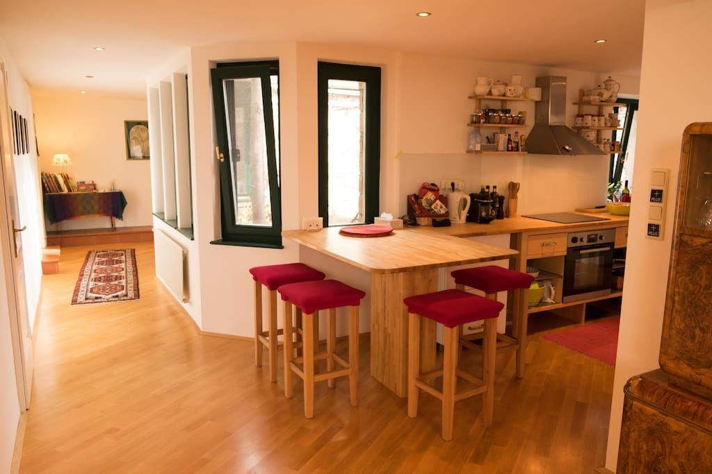 Large home for more than one traveller, fully equipped kitchen & eating corner