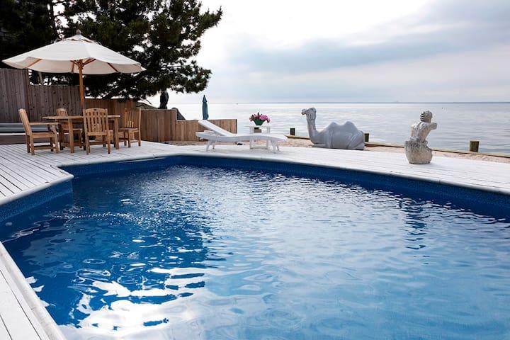 Take a dip in the pool.