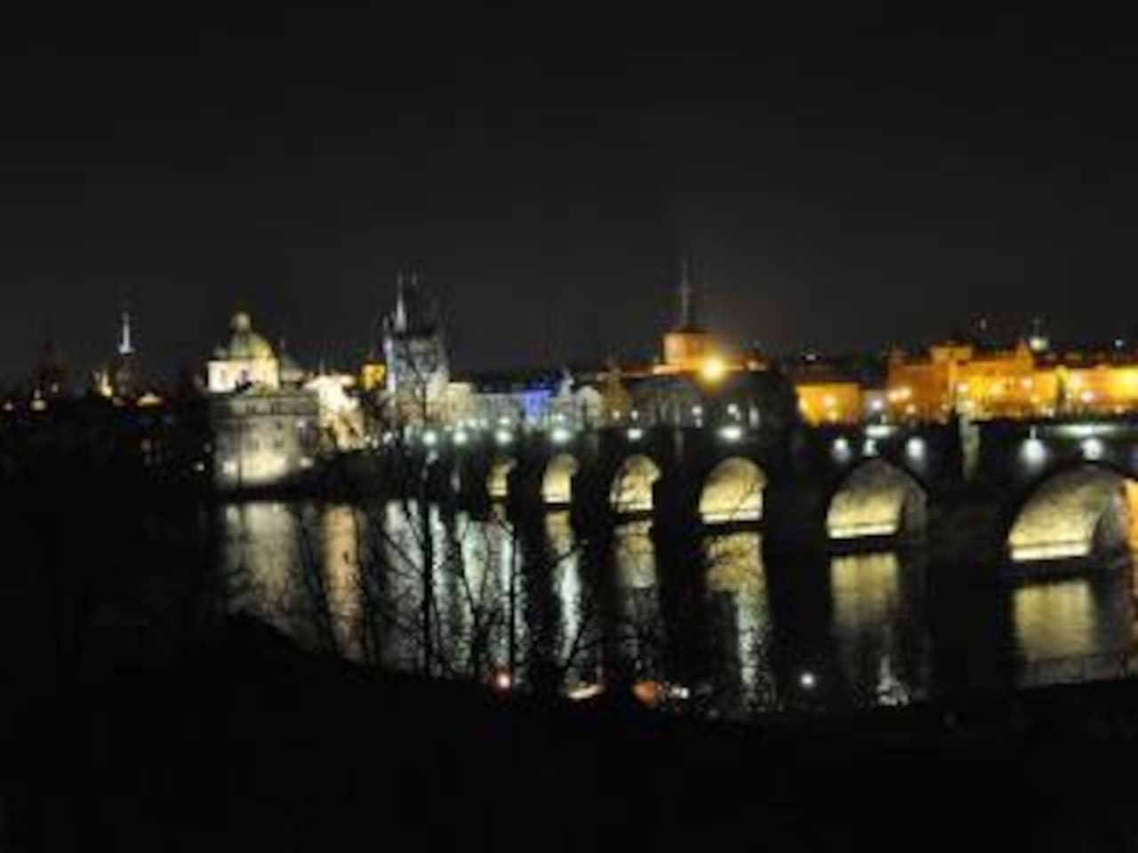 View from apartment to magical Charles Bridge