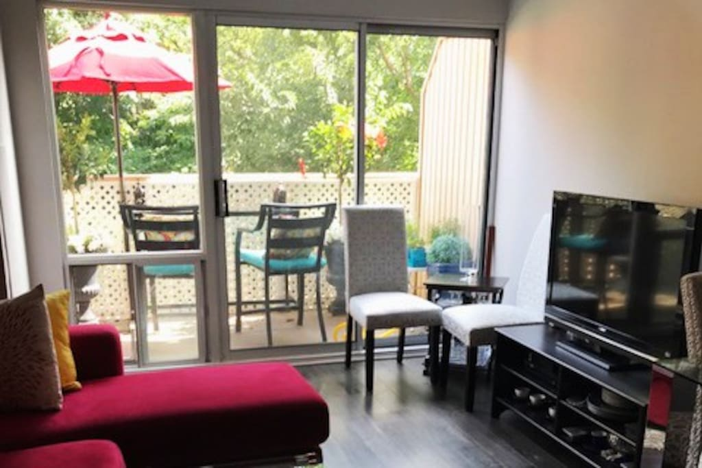 Living Room with Balcony Walkout