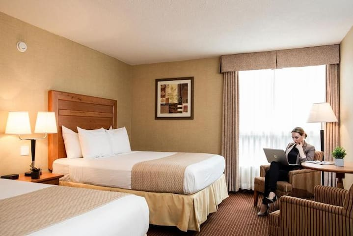 Awesome Double Two Double Beds At Edmonton