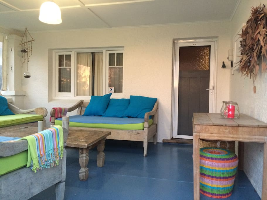 Relax on the front verandah at the end of the day.