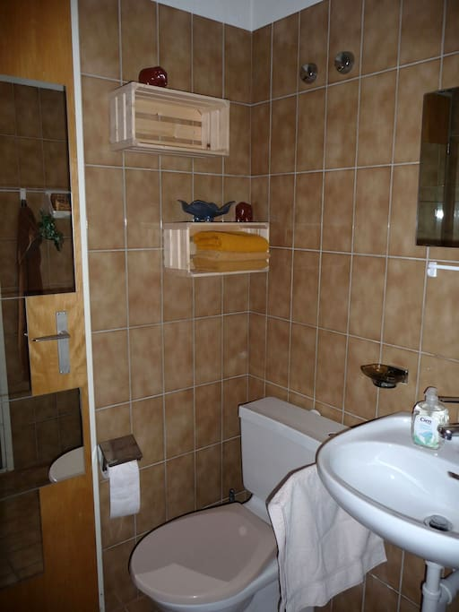 Bathroom with toilette and washbasin