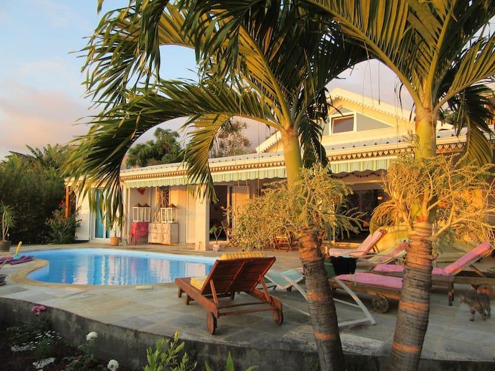 Splendide Villa vue/mer, piscine privée, St Leu