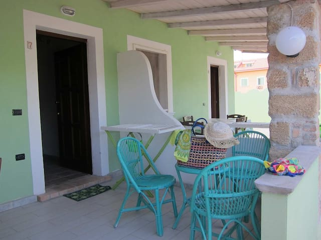 Holiday Apartment Le Castella in the green