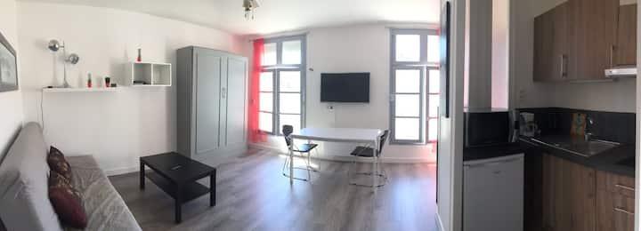 Studio Centre ville, marché,Climatisé, La Rochelle
