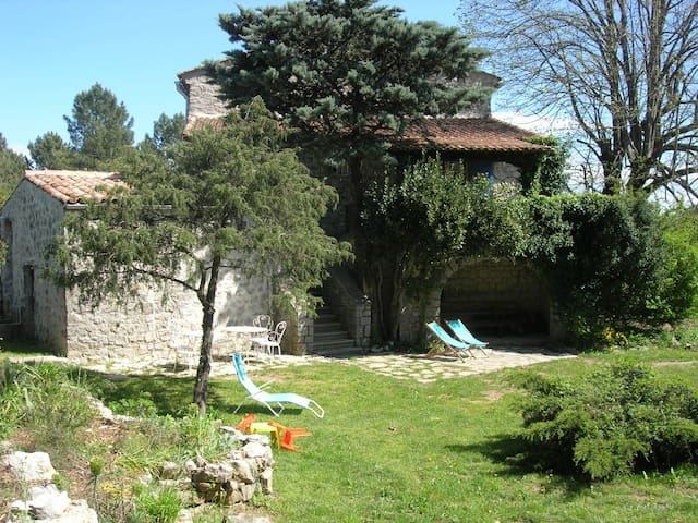 independent cottage in ardeche - Les Vans - Huis
