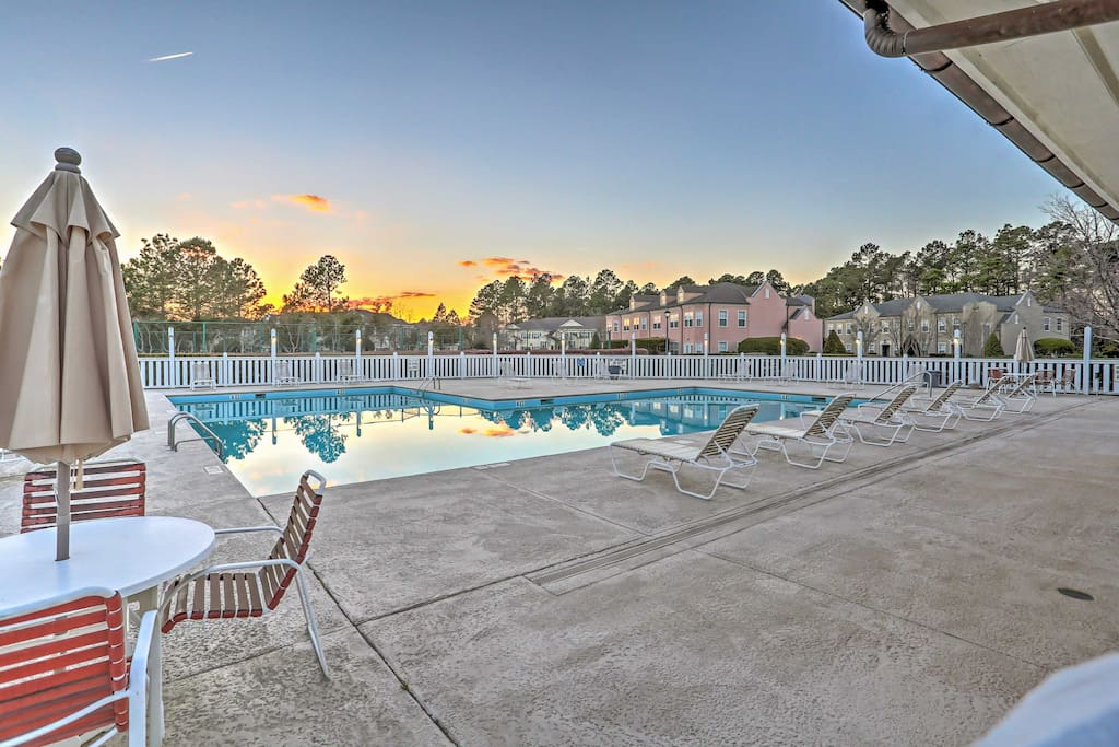 Cool off after a day of golf in one of the 2 community swimming pools.