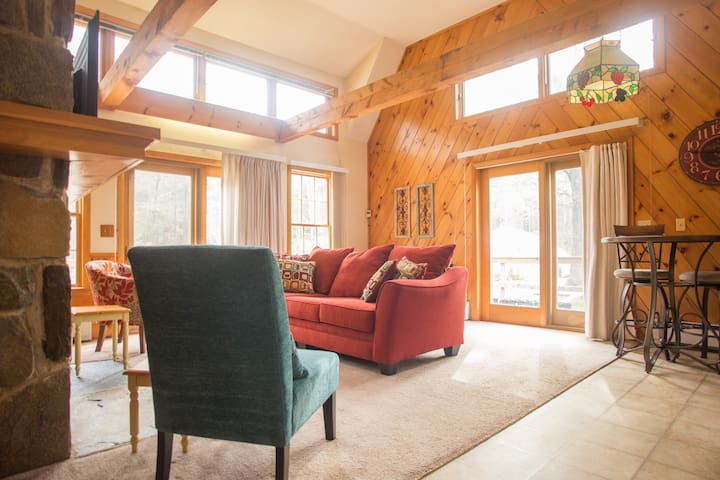 Sunlit cabin with vaulted ceiling - Amherst - Pension