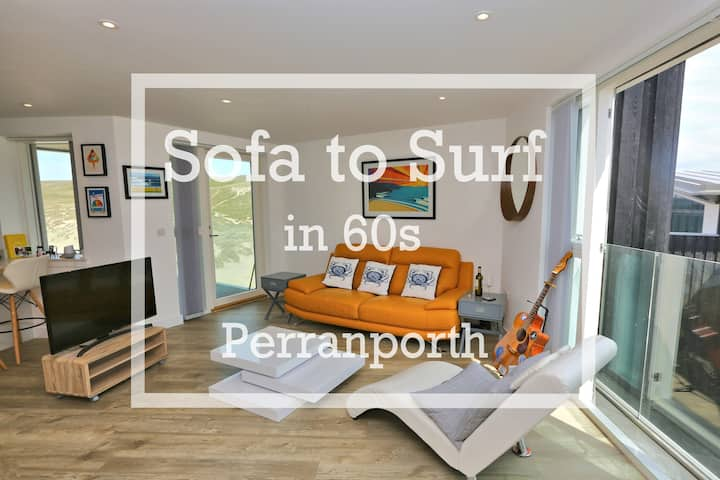 Sofa to Surf in 60 seconds - Perranporth Beach