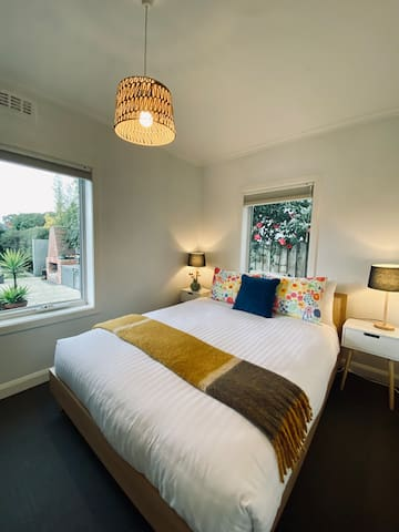 Bedroom two with comfortable queen bed