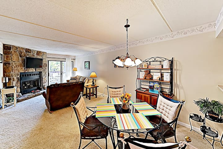 Gather for home-cooked meals at the dining table for 4.