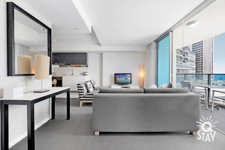 Experience luxury living while lounging around this elegant living room