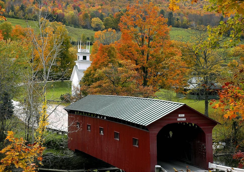 One of the most photographed covered bridges in Vermont!