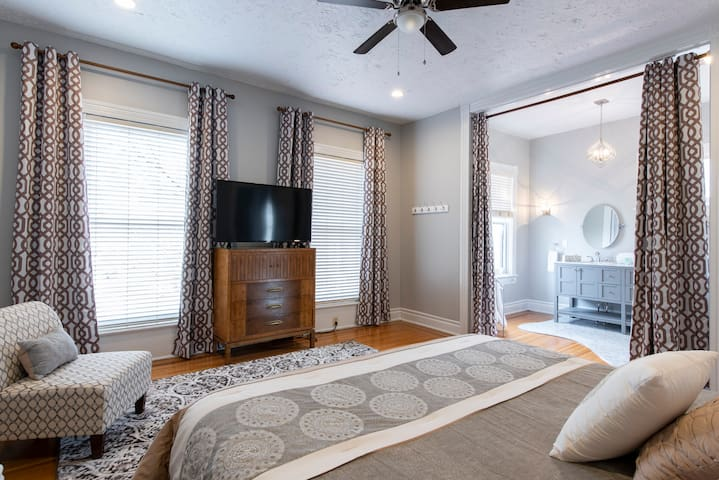 Second floor Master bedroom with private bath.