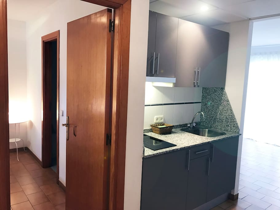 Kitchen And entrance at bedroom
